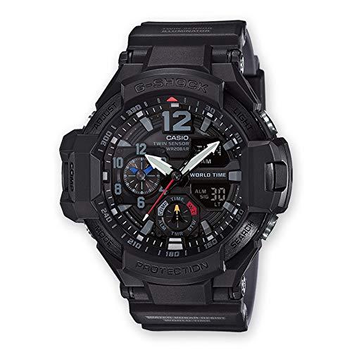 Casio Reloj Analógico-Digital para Hombre de Cuarzo con Correa en Resina GA-1100-1A1ER 1