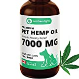 Organic Pet Hemp Oil for - Dogs & Cats (7000MG / 60mL) Made in Canada, Premium Calming, Separation Anxiety & Stress Relief, Pain Relief, and Support Mobility, Hip & Joint, and Immune System