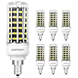 Tools & Hardware : Warmoon LED Bulbs 10W Daylight White 6500K, 850LM, 75W Equivalent E12 Socket 360 Degree Beam Angle 56 LEDs Candelabra LED Bulbs for Outdoor Indoor LED Chandelier Light Bulbs Kitchen Bathroom 6 Pack