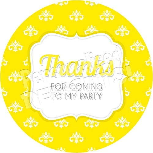 - hiusan Yellow Damask Personalized Sticker Lables Christmas Address Labels Envelop Seals Party Favor Tags Lable