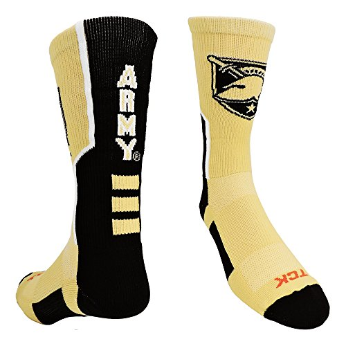 TCK Sports Army West Point Perimeter Crew Socks (Vegas Gold/Black/White, Small) ()
