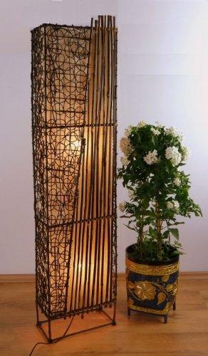 Asia Wohnstudio asiáticas - Lámpara de pie de bambú Lámpara ...