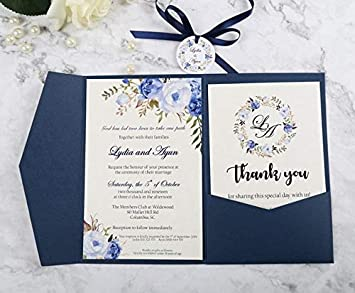 Tarjetas y invitaciones - 100 tarjetas de felicitación de bolsillo ...