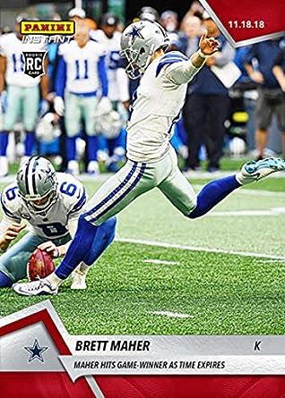 9f9dbd884c0 2018 Panini Instant NFL Football #99 Brett Maher RC First Rookie Card Dallas  Cowboys Hits