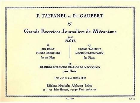 Gaubert 17 Exercices Journaliers De Mécanisme Flute Traversiere Film MUSIC BOOK