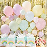 Assorted Mini Rainbow Pastel Party Balloons