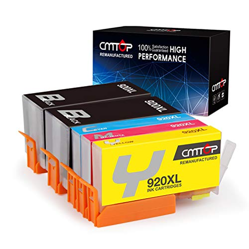 - CMTOP Compatible 920XL Ink Cartridge Replacement for HP 920 XL 920XL Ink Cartridges, High Yield, for HP Officejet 6500 7500A 6000 7000 7500 6500A Inkjet Printers (2 Black 1 Cyan 1 Magenta 1 Yellow)