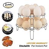 Stackable Egg Steamer Rack for Instant Pot Steaming Holder Rack Stand Set, 2Pack