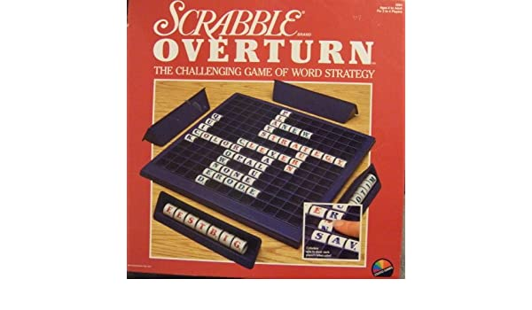 Scrabble Overturn Challenging Game of Word Strategy by Scrabble Overturn Challenging Game of Word Strategy