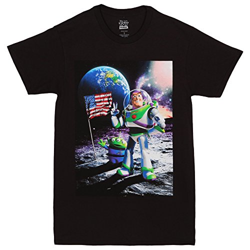 Toy Story Cosmic Explorer Adult T-shirt - Black (Small) ()