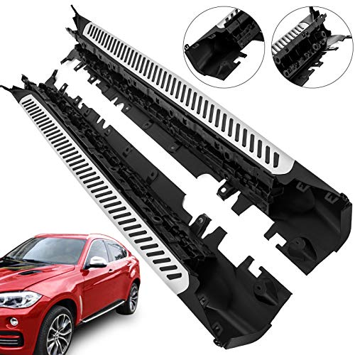 Mophorn Aluminum Side Step for 2015-2018 BMW X6 F16 Running Board OE Style Nerf Bar Silver Step Rails Pair Set Side Steps