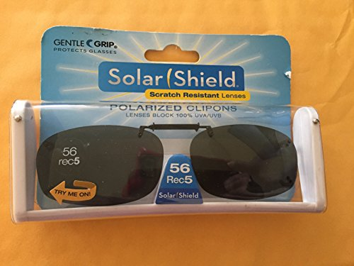 Solar Shield 56 Rec 5 Gray Polarized lens Ultra Light frame Clip On Sunglasses