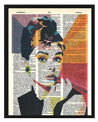 (Signature Studios Audrey Hepburn photo Hollywood Actress vintage dictionary art wall decor prints)