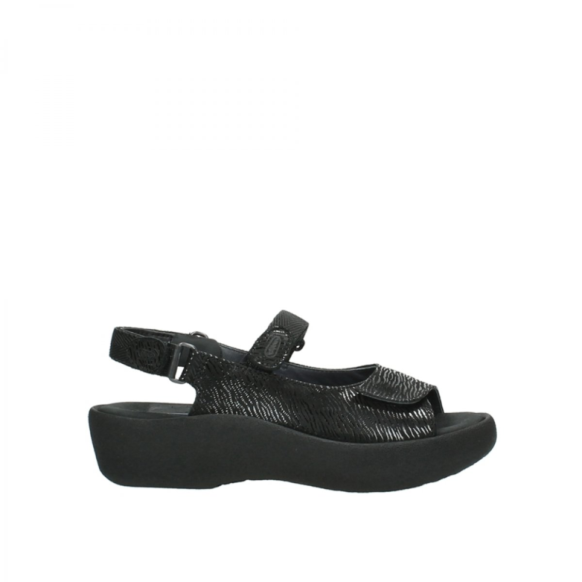 Wolky Womens 3204 Jewel Leather Sandals 43 EU|700 black canals