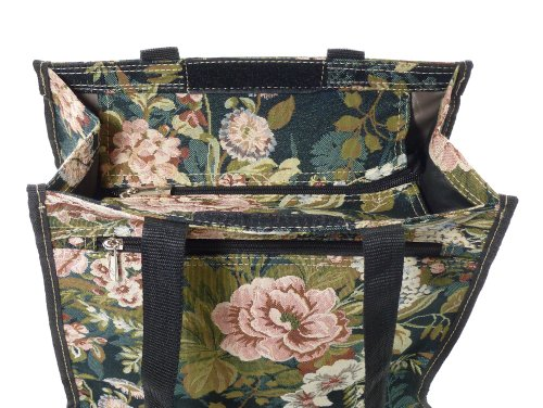 Moon Gobelin Tote Shopping Tapestry Style Flower City Bag small XUPA0wq