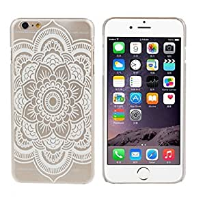 ABC(TM) Fashion Cool Mandala Pattern Flower White Hard Case Skin Cover For iphone6 4.7Inch