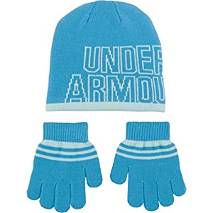 Under Armour Girls' Little Knit Beanie and Glove Combo