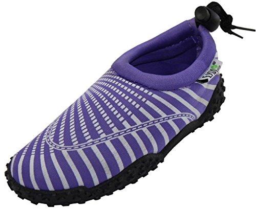 Vågen Kvinna Vatten Skor Aqua Strumpor Pool Strand, Yoga, Dans Och Motion 1177 Purple 9
