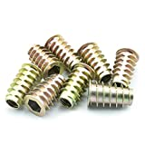 LQ Industrial 30pcs M8x25mm Furniture Screw-in Nut