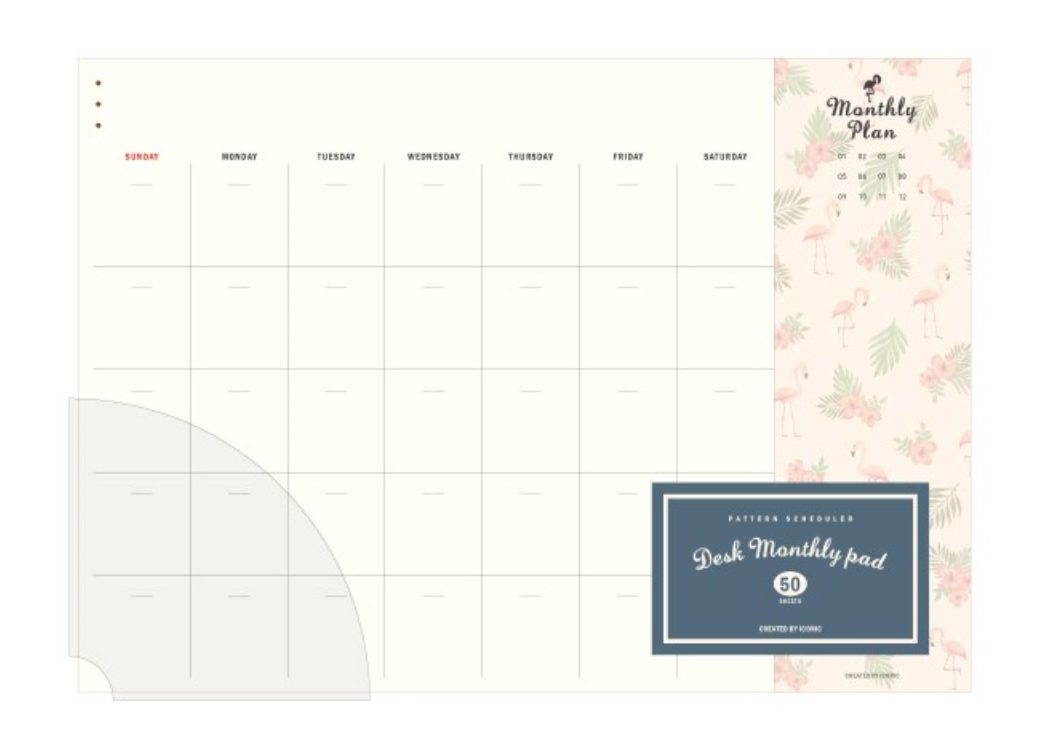 Iconic Weekly, Monthly Desk Pad Ver.2/Pattern Scheduler (Monthly) 8809391885164