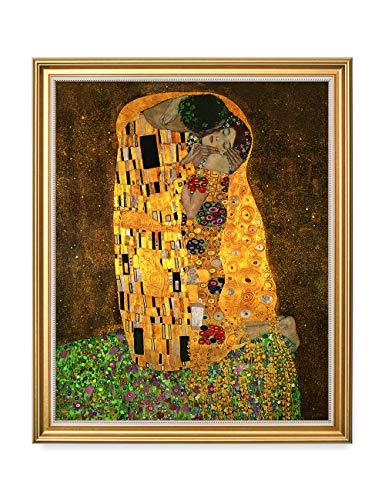 Kiss Framed - DECORARTS - The Kiss, Gustav Klimt Classic Art. Giclee Prints Framed Art for Wall Decor. 16x20, Total Size w/Frame: 18.5x22.5