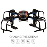 DEERC X902 Black Spider Mini RC Quadcopter Drone with 3D Flip 2.4Ghz 6-Axis Gyro for Beginner,With Bonus 3600mAh Power Bank To Increase the Flight time(90 min)