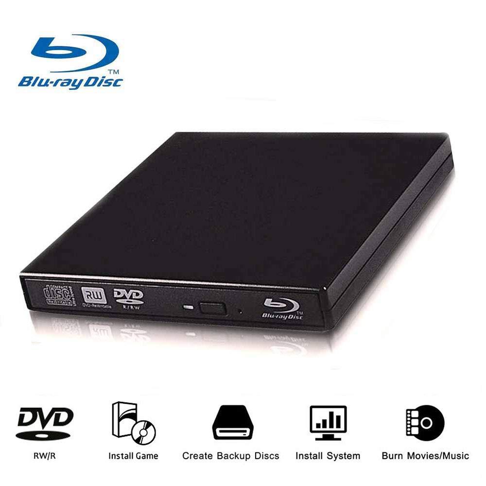 External Blu Ray Drive Player Ultra Slim USB 2.0 CD DVD RAM Burner High Speed Reader Re-Writer for Laptop Notebook Desktop PC iMac MacBook by Cisasily