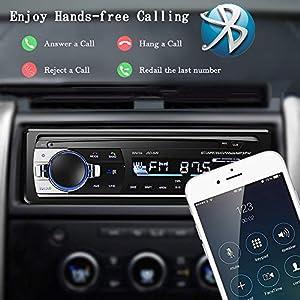 51jUYakiKiL. SS300  - Andven-Hands-Free-Bluetooth-Car-Radio-Digital-Media-Receiver-4-x-60-W-1-DIN-Car-Radio-USB-SD-AUX-MP3-Player-Receiver-with-Remote-Control