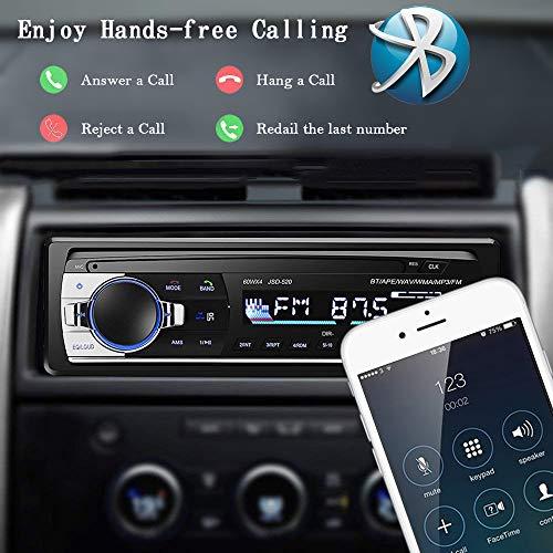 51jUYakiKiL - Andven Autoradio Bluetooth, 4×60W Manos Libres Radio Estéreo de Coche, Apoyo d