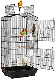 Yaheetech Play Open Top Bird Cages for Small Parrots Parakeets Finches Canaries Lovebirds Cockatiels Budgie Gr