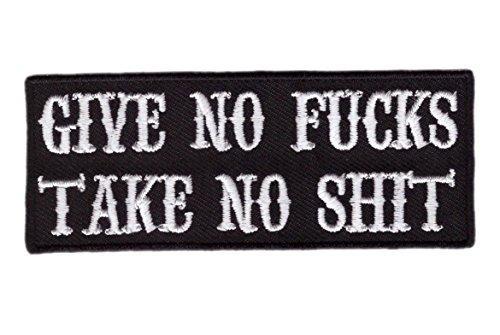 Hook Give No F*cks Take No Sh*t Punk Emo Bag Jacket Morale T