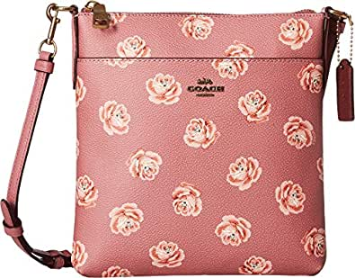 COACH Women's Messenger Crossbody in Floral Print B4/Rose Rose Print One Size