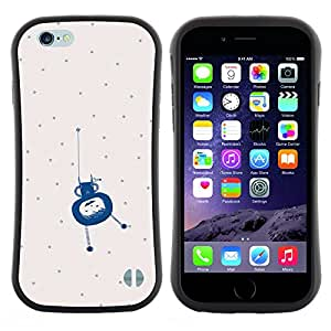 "Hypernova Slim Fit Dual Barniz Protector Caso Case Funda Para Apple (4.7 inches!!!) iPhone 6 / 6S (4.7 INCH) [Lunares Extranjero azul pequeño monstruo lindo""]"