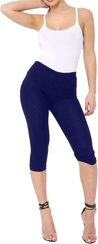 Spinbit - Mallas Capri de algodón para Mujer (3/4, Talla 42-46 ...