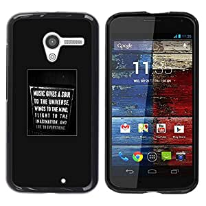 PC/Aluminum Funda Carcasa protectora para Motorola Moto X 1 1st GEN I XT1058 XT1053 XT1052 XT1056 XT1060 XT1055 soul music sign text poster singing / JUSTGO PHONE PROTECTOR