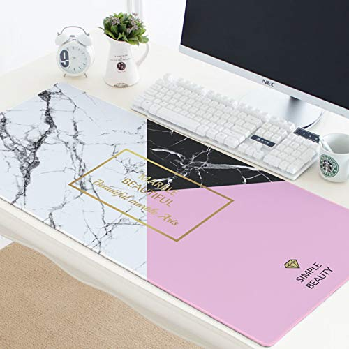 Large Marble Cartoon Mouse Pad,Black Gold High-Performance Gaming Mice Pads Desk Mat Extended Not-Slip Desk Writing Mat -b 40x90x0.3cm(16x35x0.11inch)