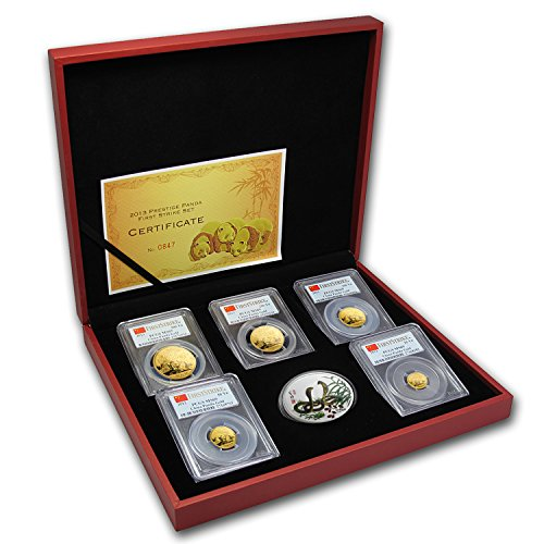 CN 2013 China 5-Coin Gold Panda Prestige Set MS-69 PCGS (FS) MS-69