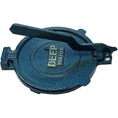 Esspy™ DEEP Deluxe Heavy Quality Iron(CI Casting) Bid Puri Maker Puri Press Kitchen Press Chapati Machine Roti Maker(Size-Big) (DEEP-Big, 3.7) 6