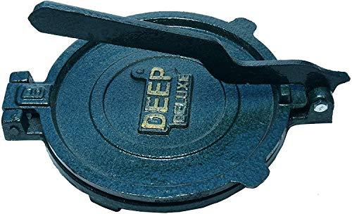 Esspy™ DEEP Deluxe Heavy Quality Iron(CI Casting) Bid Puri Maker Puri Press Kitchen Press Chapati Machine Roti Maker(Size-Big) (DEEP-Big, 3.7) 1