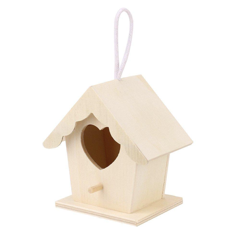 Excellent Waiimak Diy Handmade Bird House Nest Dox Nest House Bird Box Wooden Box A Home Interior And Landscaping Ferensignezvosmurscom