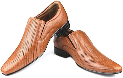 cceb1ac32f38f Escaro New York Genuine Leather Formal Slip-On Dress Shoes for Men ...