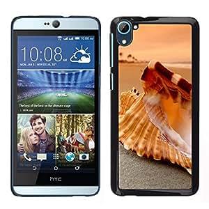 // PHONE CASE GIFT // Duro Estuche protector PC Cáscara Plástico Carcasa Funda Hard Protective Case for HTC Desire D826 / Seashell Beach /