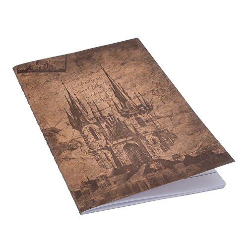 Antner 12 Pack Pocket Notebook 4 Designs Retro Cover Notepads, 4.7