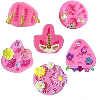 Amazon.com: Mujiang 3 moldes de unicornio para tarta de ojos ...