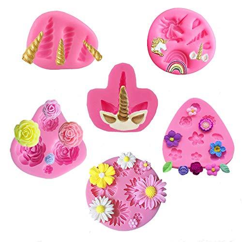Mini Unicorn Mold Set,Unicorn Horn Ears Rainbow ()
