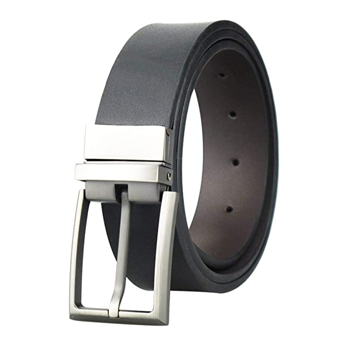 Cinturón de vestir de piel reversible para hombre 8bebac1a3802
