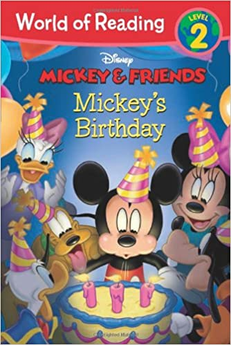 mickey friends mickey s birthday world of reading disney book