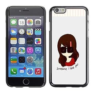 - Cartoon Girl Cute - - Monedero pared Design Premium cuero del tir¨®n magn¨¦tico delgado del caso de la cubierta pata de ca FOR Apple iPhone 6 6S 4.7 Funny House