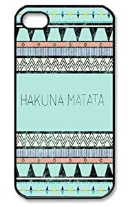 Color.Dream Hakuna Matata Blue Aztec Tribal Hard Plastic Back Case Cover Phone Protective Case for iPhone 6 Plus (5.5 inch) by ruishername