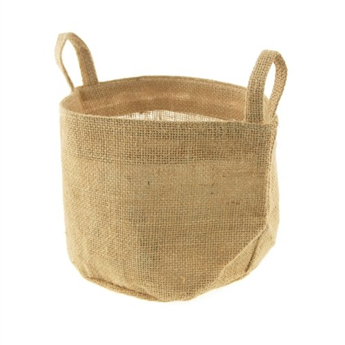 Homeford Firefly Imports Small Burlap Basket Bags, 6-1/2-Inch, 6-Pack, 6-1/2